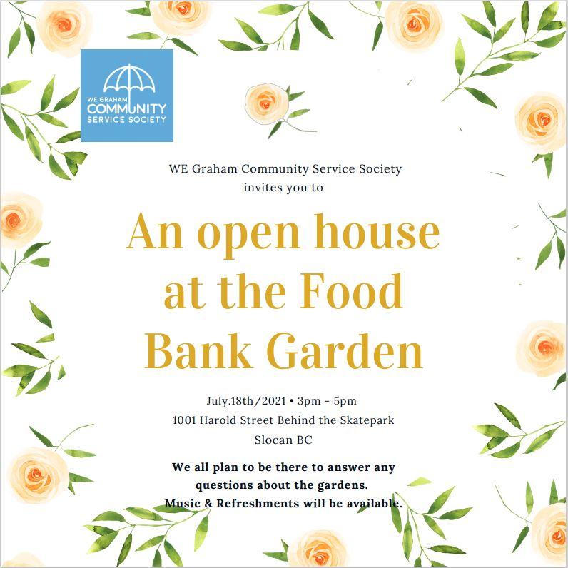 Food Bank Garden Open House July 18